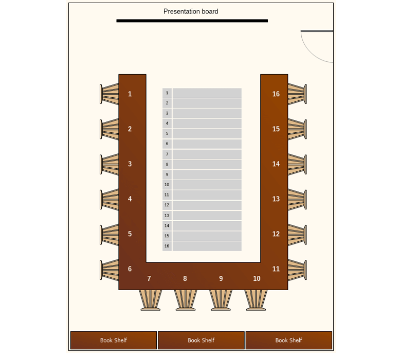 Conference Room Seating Chart