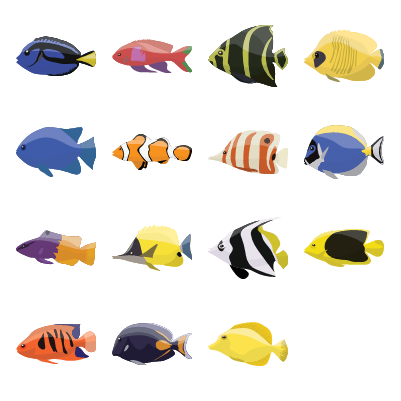 Coral fishes Preview Small