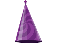 Birthday Hat Purple