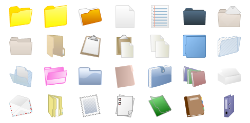 File and Folder Shapes Preview Small