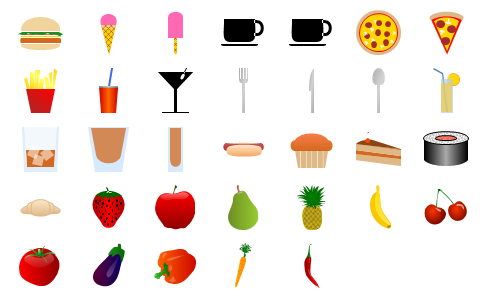 Food Shapes Preview Small