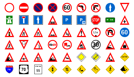 Traffic Sign Shapes Preview Small