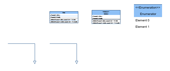 UML Class Diagram Shapes Preview Small
