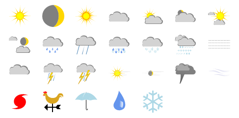 Weather Shapes Preview Small