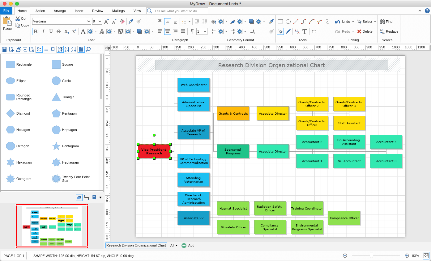 My Draw Organizational Chart Software for Mac