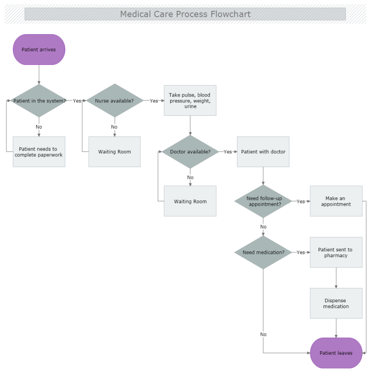 Medical Care Process Flowchart