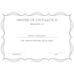Award of Excellence Certificate thumb