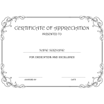 Certificate of Appreciation thumb