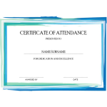 Certificate of Attendance thumb