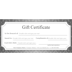 Luxurious Frame Gift Certificate thumb