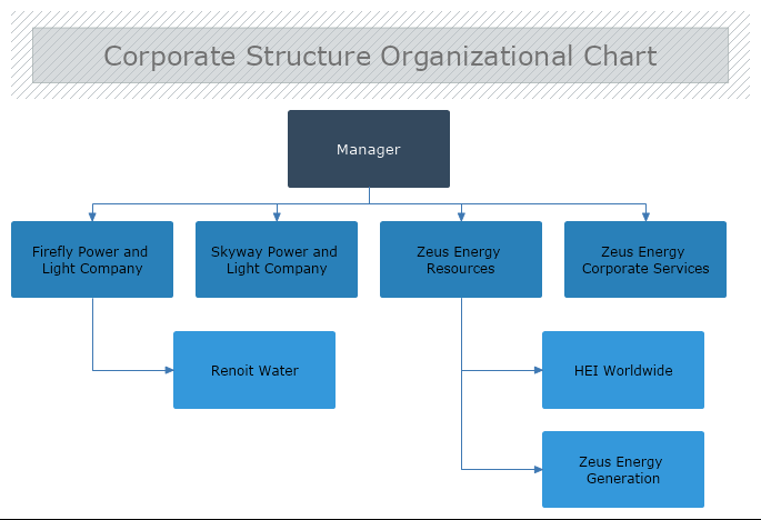 Corporate Structure Organizational Chart