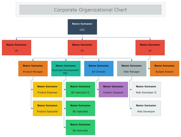 corporate organization structure template
