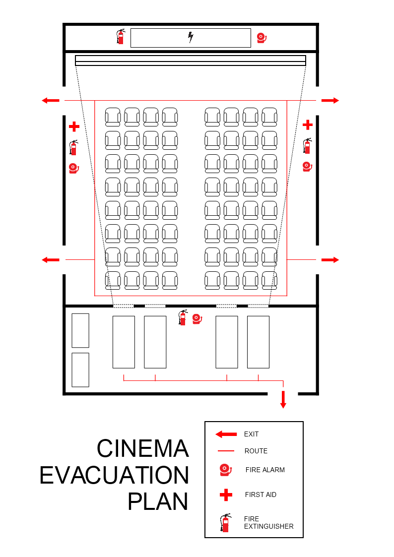 Cinema Evacuation Plan