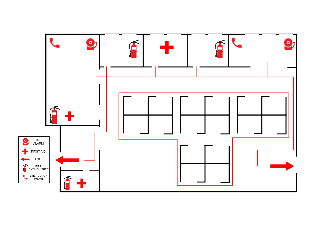 Emergency Evacuation Plan Template Mydraw