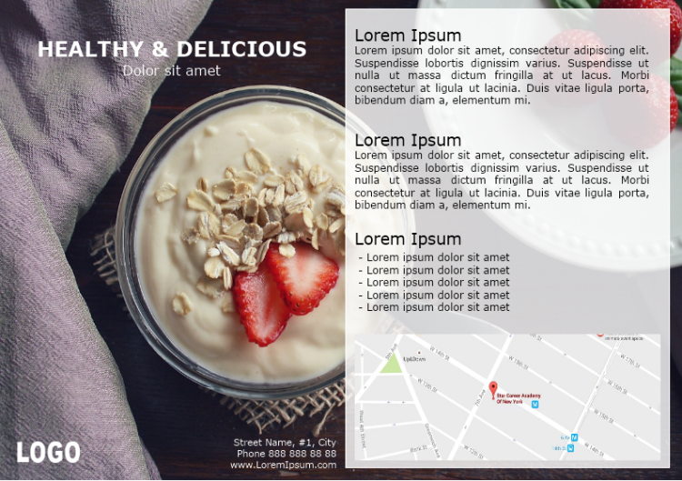 Healthy And Delicious Brochure