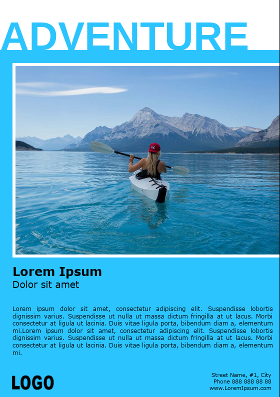 Kayaking Adventure Brochure