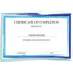Certificate of Completion thumb