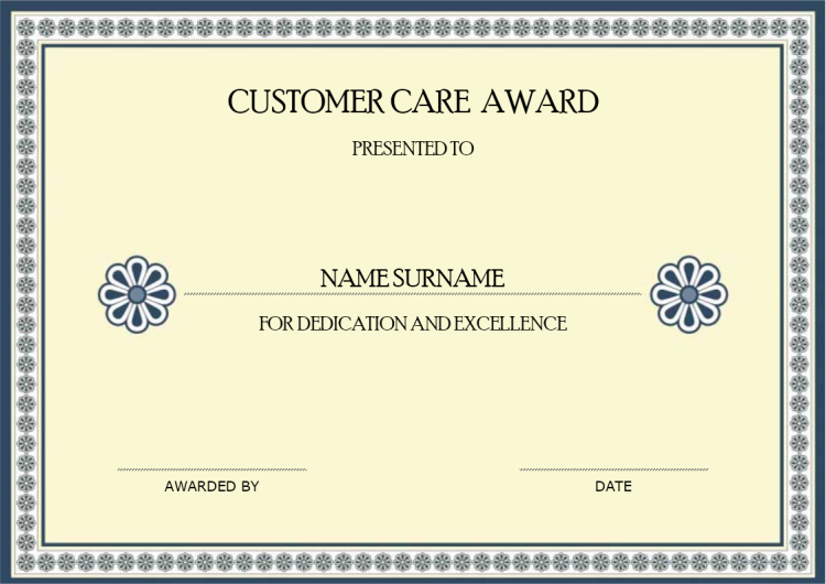 Customer Care Award | MyDraw