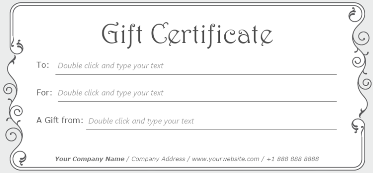 Simple Stylish Gift Certificate