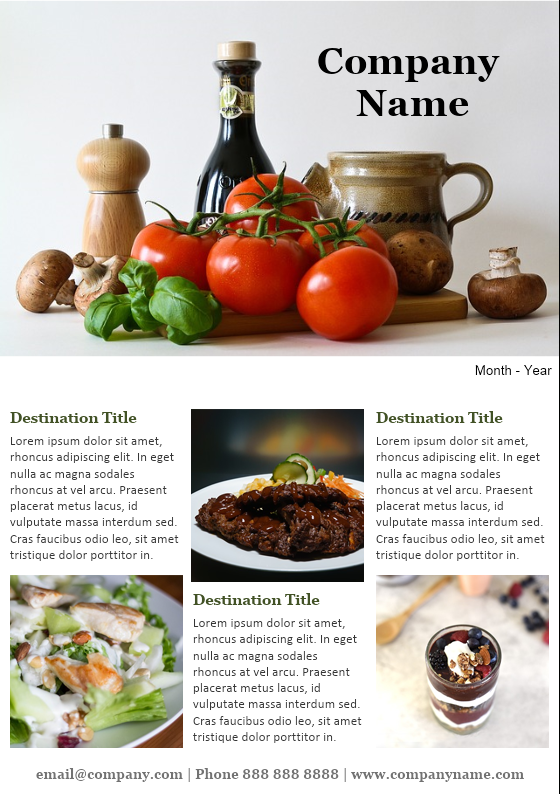 Culinary Magazine Newsletter