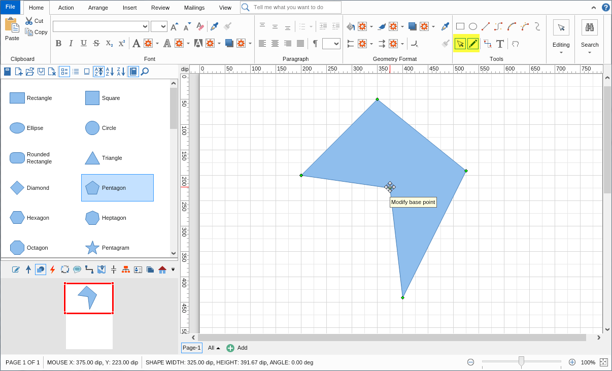 additionally modify your custom diagram shapes - Create Your Own Diagram